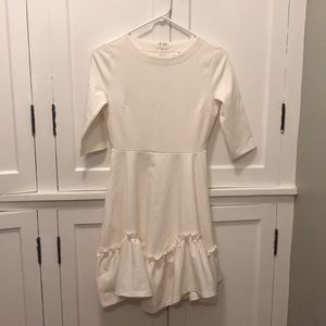 NWT Gap Winter White Ruffle Dress